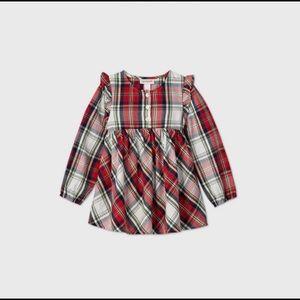 Plaid toddler blouse
